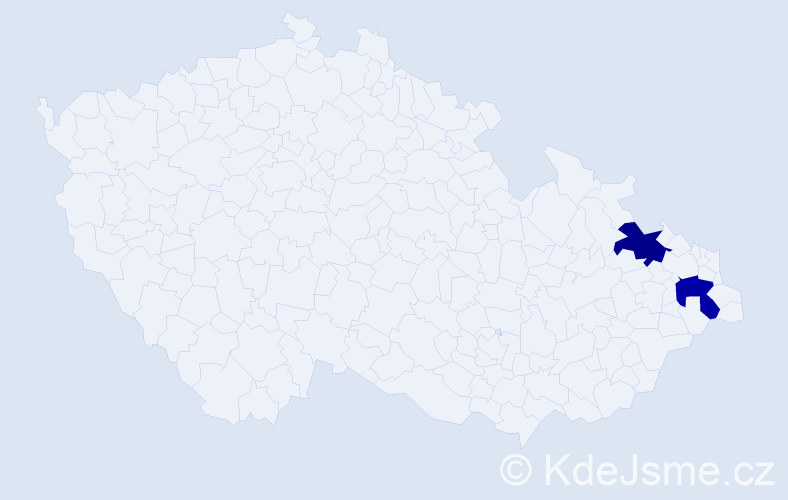 Příjmení: 'Gangelberger', počet výskytů 2 v celé ČR