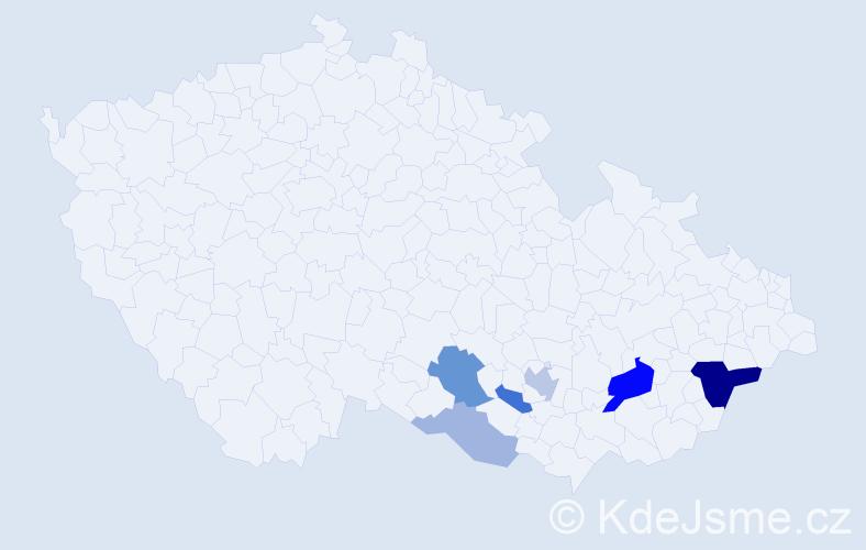 Příjmení: 'Haschka', počet výskytů 15 v celé ČR