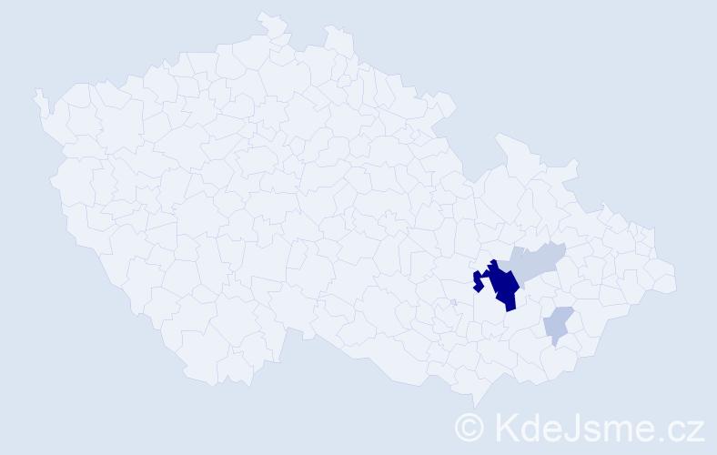 Příjmení: 'Kalandr', počet výskytů 11 v celé ČR