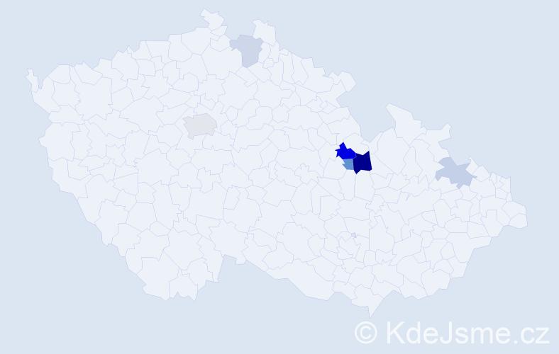 Příjmení: 'Kesselgruber', počet výskytů 23 v celé ČR