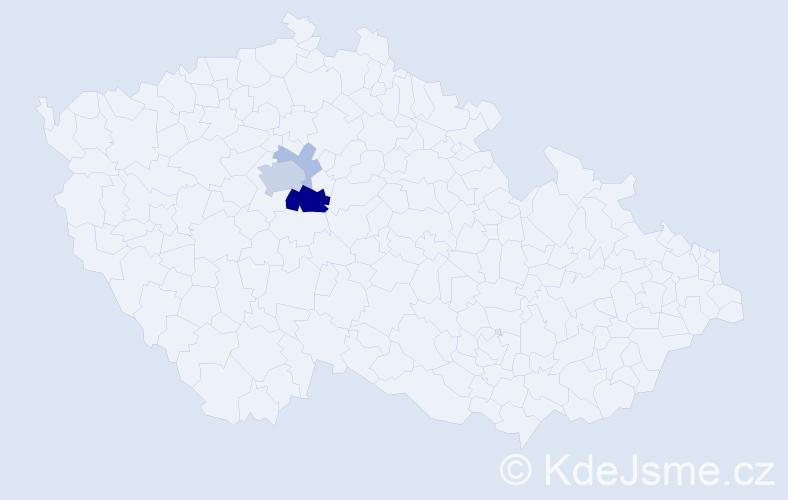 Příjmení: 'Keicher', počet výskytů 11 v celé ČR