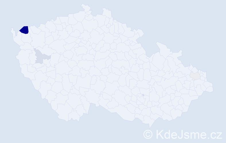 Příjmení: 'Darányiová', počet výskytů 7 v celé ČR