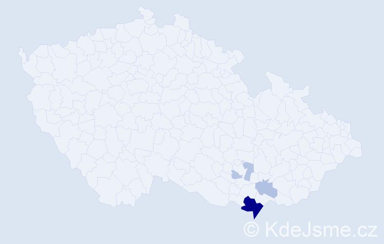Příjmení: 'Gigerich', počet výskytů 10 v celé ČR