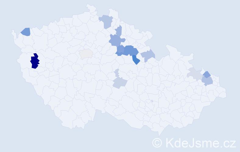 Příjmení: 'Ende', počet výskytů 35 v celé ČR