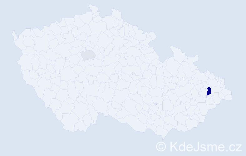 Příjmení: 'Cavrová', počet výskytů 3 v celé ČR