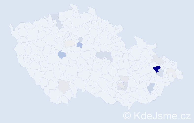 Příjmení: 'Farda', počet výskytů 49 v celé ČR