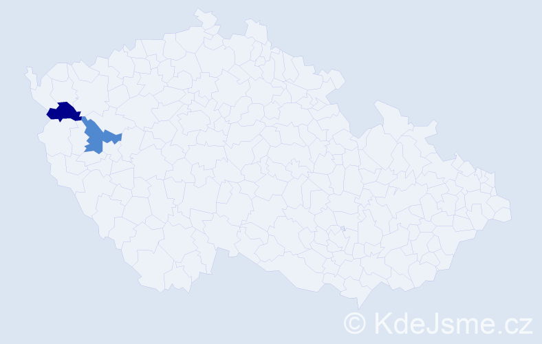 Příjmení: 'Immig', počet výskytů 2 v celé ČR