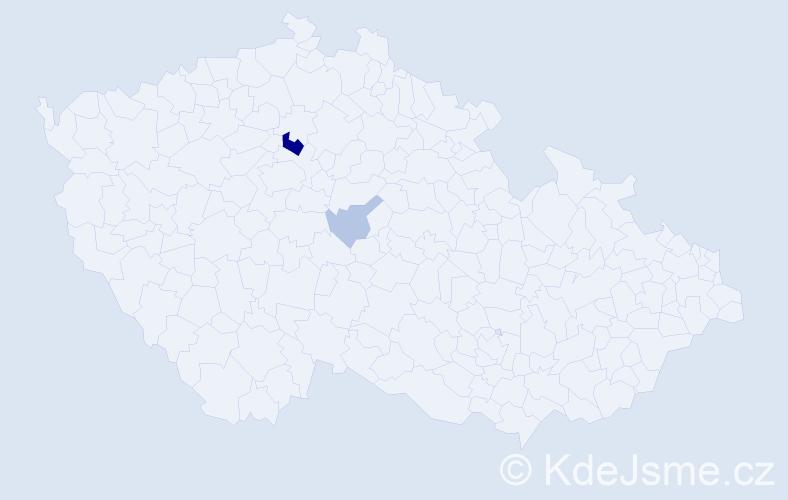 Příjmení: 'Hospesová', počet výskytů 6 v celé ČR