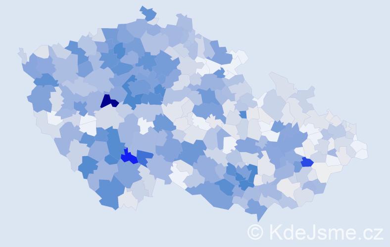 Příjmení: 'Hrdlička', počet výskytů 3280 v celé ČR
