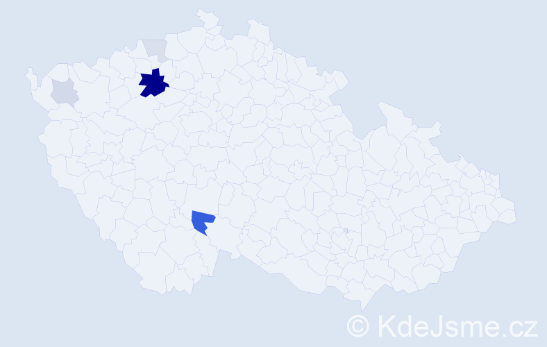 Příjmení: 'Lapec', počet výskytů 15 v celé ČR
