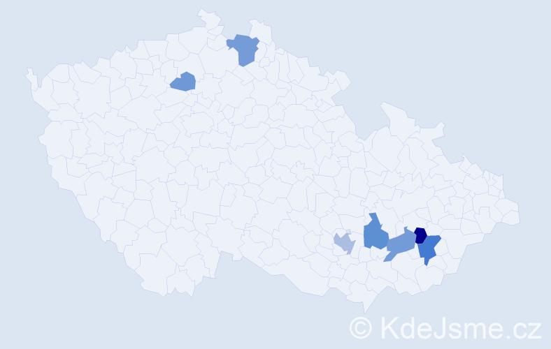 Příjmení: 'Galandrová', počet výskytů 17 v celé ČR