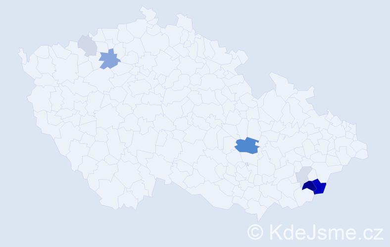 Příjmení: 'Fagulec', počet výskytů 35 v celé ČR