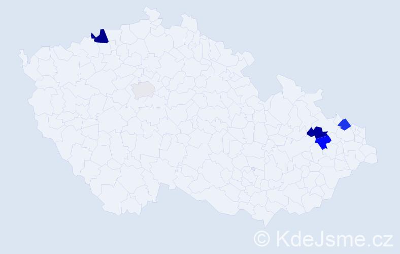 Příjmení: 'Kopýtko', počet výskytů 8 v celé ČR