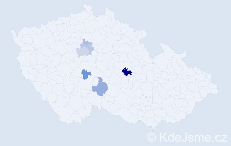 Příjmení: 'Hostomský', počet výskytů 22 v celé ČR