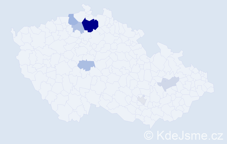 Příjmení: 'Halinárová', počet výskytů 15 v celé ČR