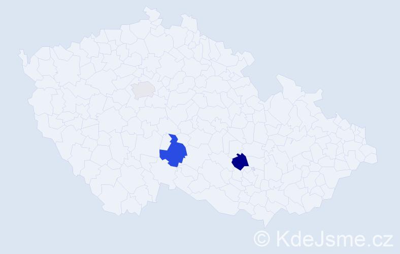 Příjmení: 'Felbingerová', počet výskytů 10 v celé ČR