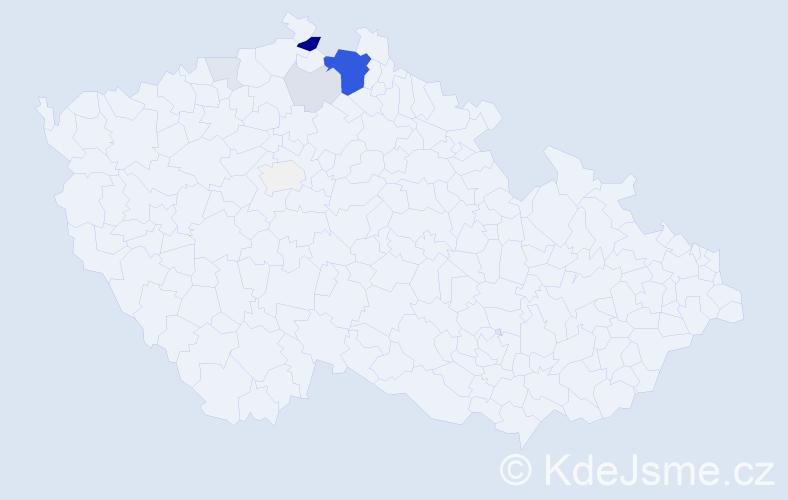 Příjmení: 'Gyngo', počet výskytů 31 v celé ČR