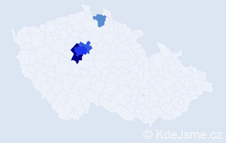 Příjmení: 'Laboutková', počet výskytů 14 v celé ČR
