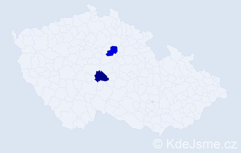 """Příjmení: '""""Do Minh""""', počet výskytů 2 v celé ČR"""