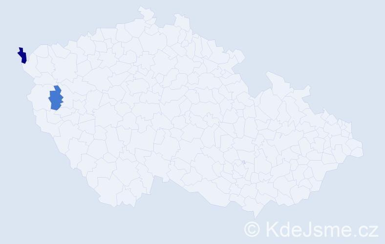 Příjmení: 'Egelkrautová', počet výskytů 3 v celé ČR