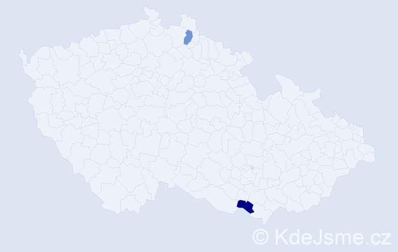 Příjmení: 'Glušáková', počet výskytů 2 v celé ČR