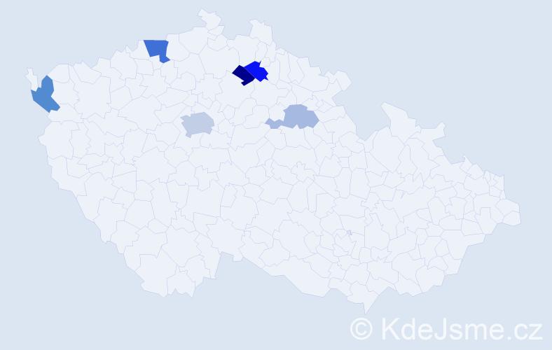 Příjmení: 'Erler', počet výskytů 24 v celé ČR