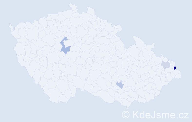 Příjmení: 'Irmlerová', počet výskytů 6 v celé ČR