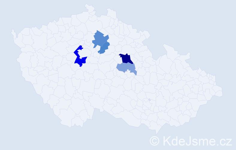 Příjmení: 'Fukátko', počet výskytů 13 v celé ČR