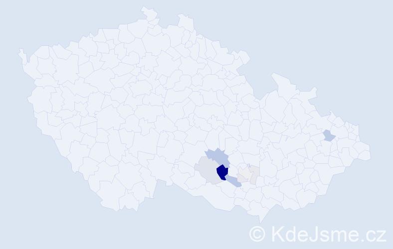 Příjmení: 'Bábuňková', počet výskytů 21 v celé ČR