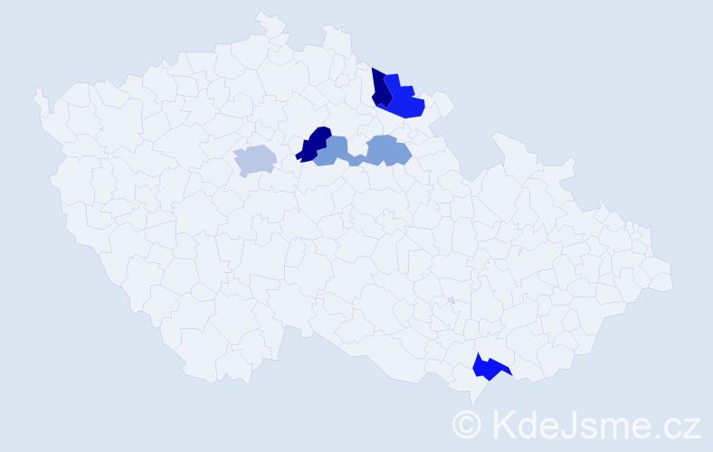 Příjmení: 'Borufka', počet výskytů 29 v celé ČR