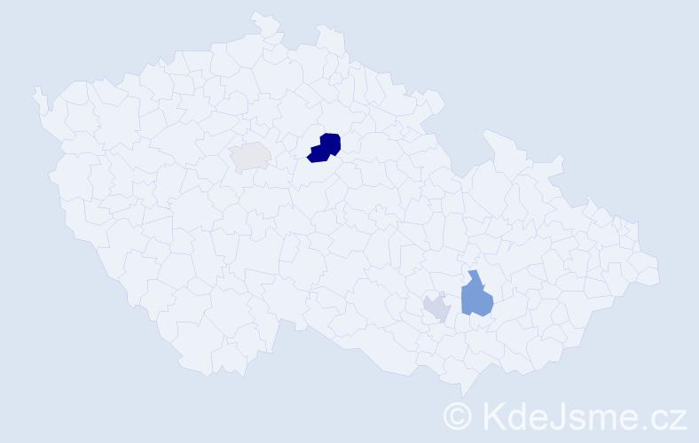 Příjmení: 'Ifková', počet výskytů 5 v celé ČR