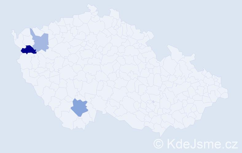Příjmení: 'Jaloševská', počet výskytů 5 v celé ČR