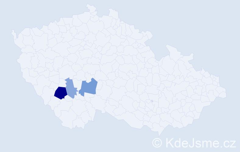 Příjmení: 'Iňová', počet výskytů 7 v celé ČR