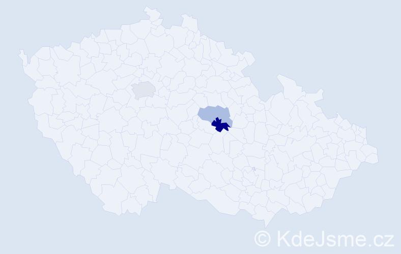 Příjmení: 'Eneš', počet výskytů 5 v celé ČR