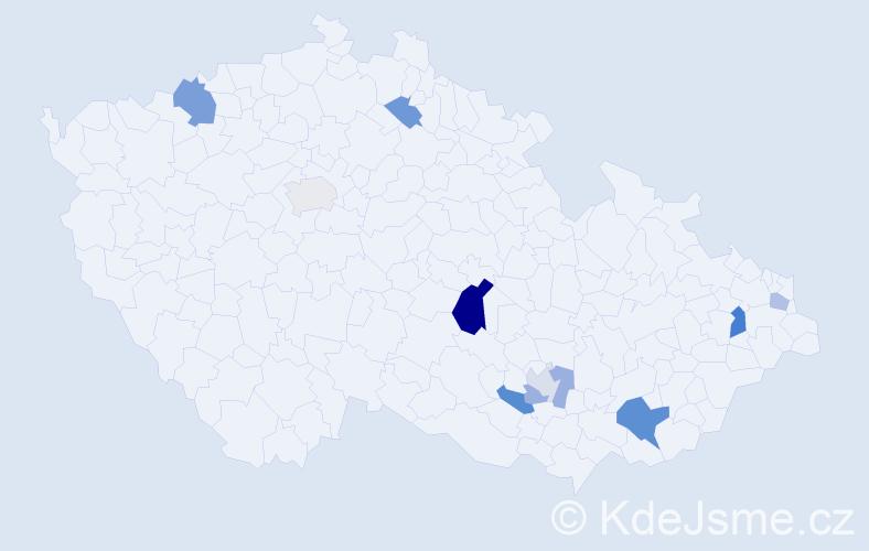 Příjmení: 'Jalušková', počet výskytů 17 v celé ČR