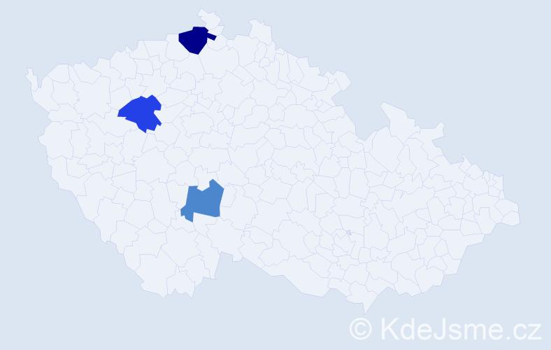 Příjmení: 'Kolesnyková', počet výskytů 4 v celé ČR
