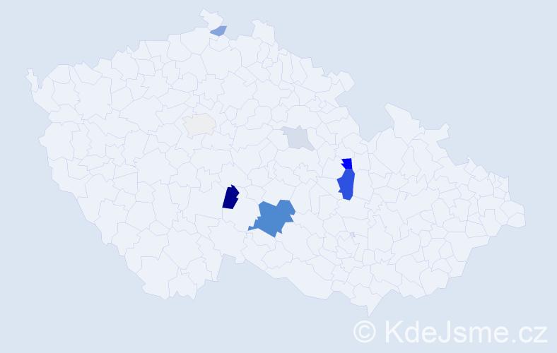 Příjmení: 'Karšová', počet výskytů 20 v celé ČR