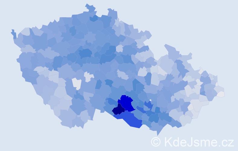 Příjmení: 'Svobodová', počet výskytů 26511 v celé ČR