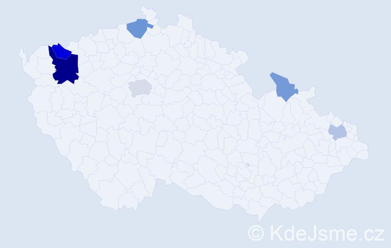 Příjmení: 'Chrust', počet výskytů 16 v celé ČR