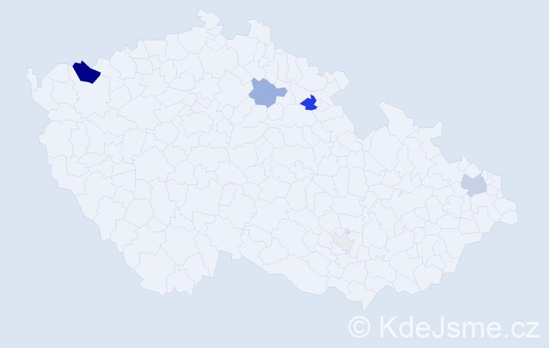 Příjmení: 'Daxner', počet výskytů 17 v celé ČR
