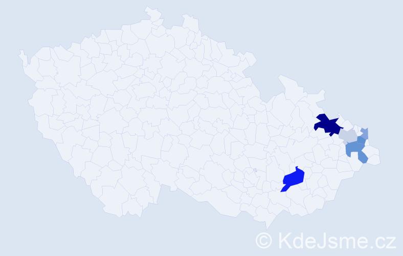 Příjmení: 'Fussek', počet výskytů 14 v celé ČR