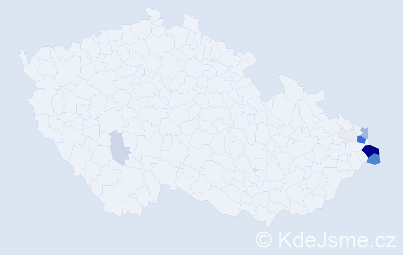 Příjmení: 'Gajdaczová', počet výskytů 35 v celé ČR