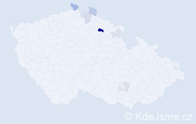 Příjmení: 'Fajferová', počet výskytů 14 v celé ČR