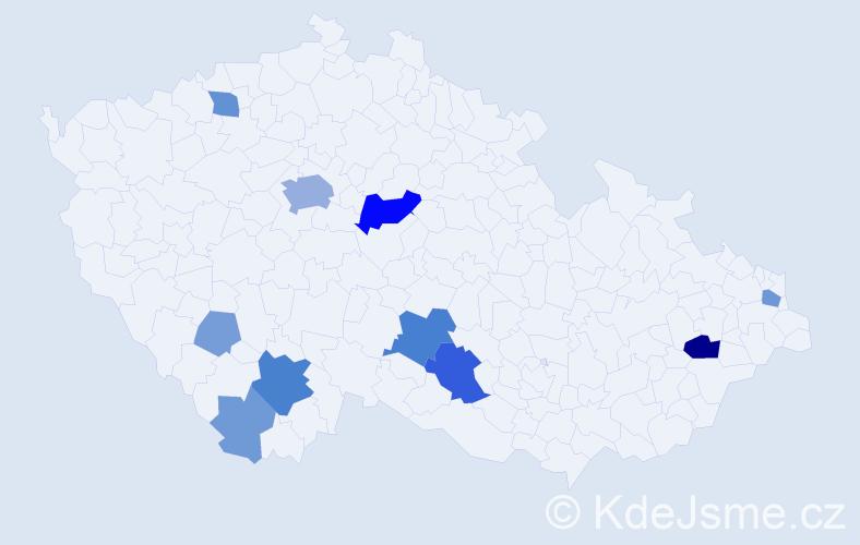 Příjmení: 'Heres', počet výskytů 32 v celé ČR