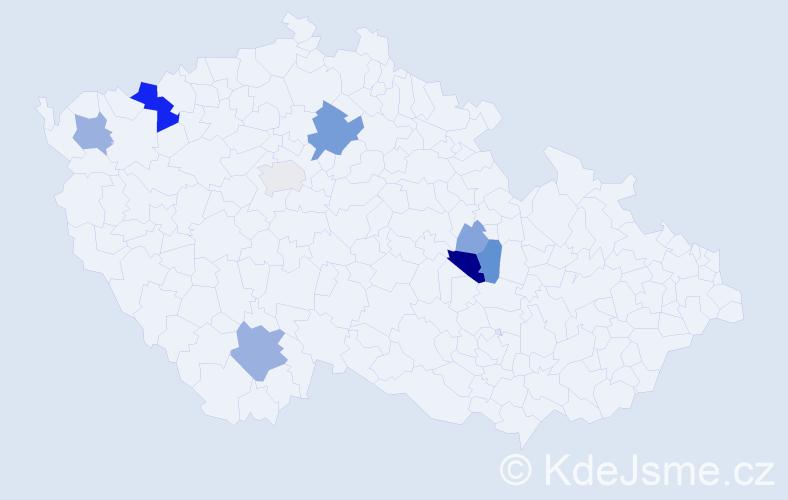 Příjmení: 'Čenec', počet výskytů 22 v celé ČR