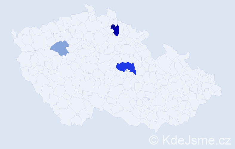 Příjmení: 'Infeldová', počet výskytů 8 v celé ČR