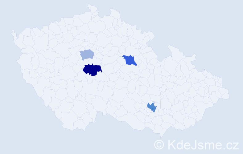 Příjmení: 'Evansová', počet výskytů 6 v celé ČR