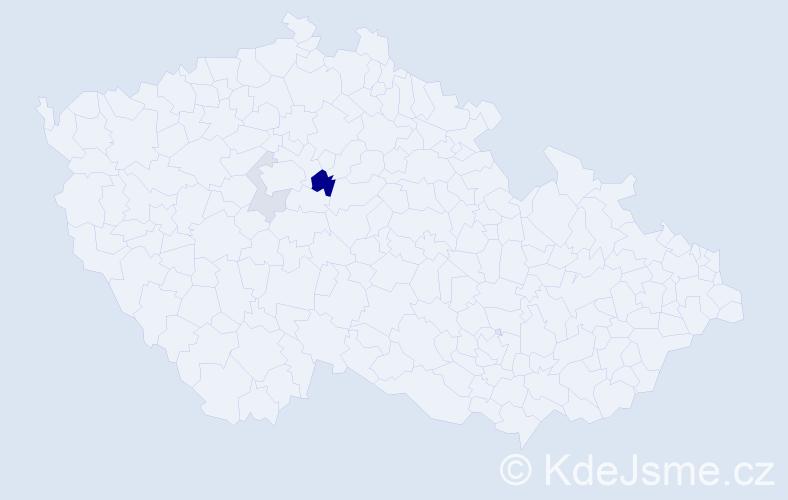 Příjmení: 'Cenigr', počet výskytů 6 v celé ČR