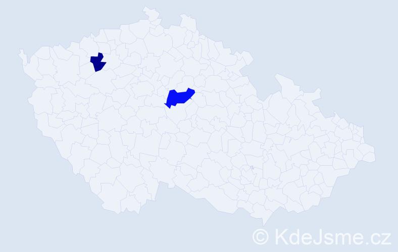 Příjmení: 'Kočerhán', počet výskytů 3 v celé ČR