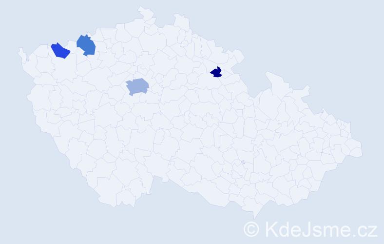 Příjmení: 'Hrzina', počet výskytů 10 v celé ČR